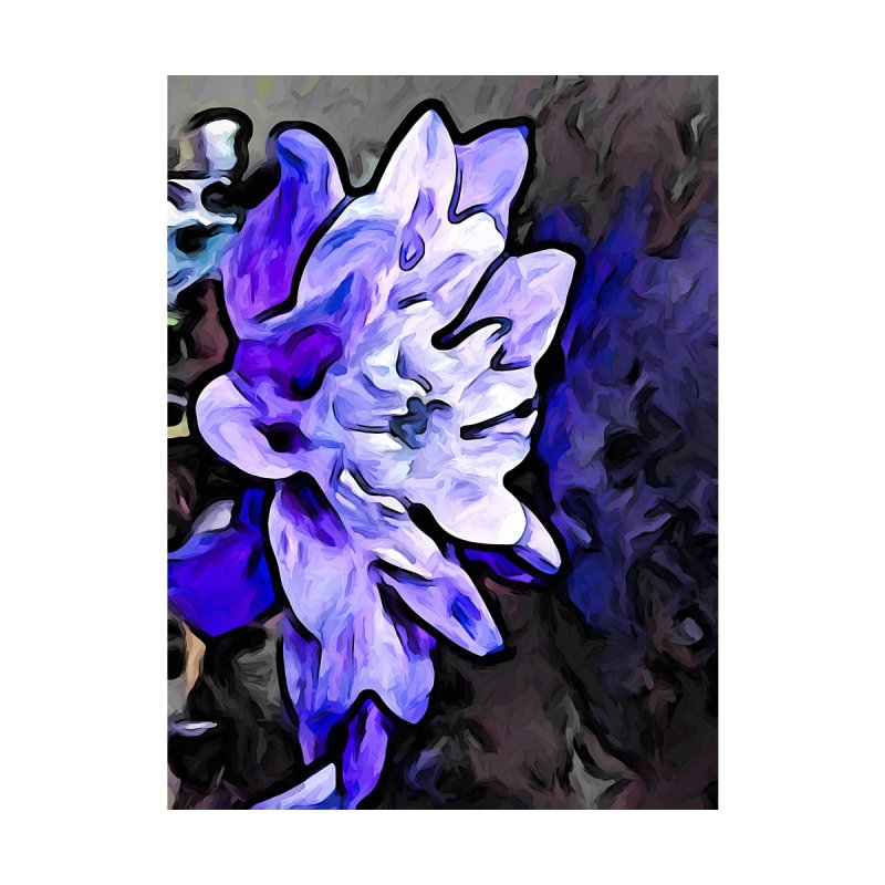 The Lavender Flower with the Cobalt Blue Edges by jackievano's Artist Shop