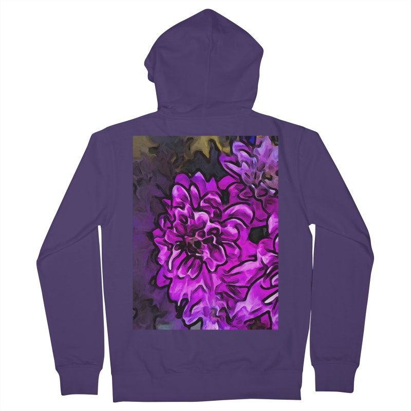 The Screaming Pink and Lavender Flower Women's Zip-Up Hoody by jackievano's Artist Shop