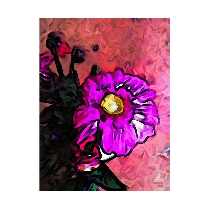 The Lavender and Yellow Flower with the Pink Floor by jackievano's Artist Shop