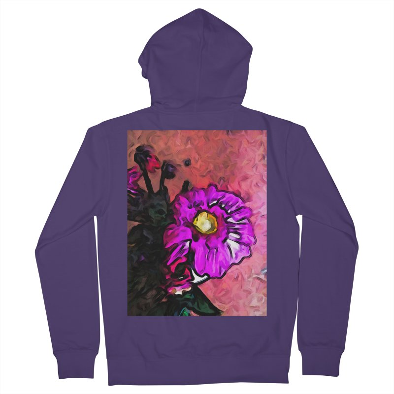 The Lavender and Yellow Flower with the Pink Floor Women's Zip-Up Hoody by jackievano's Artist Shop