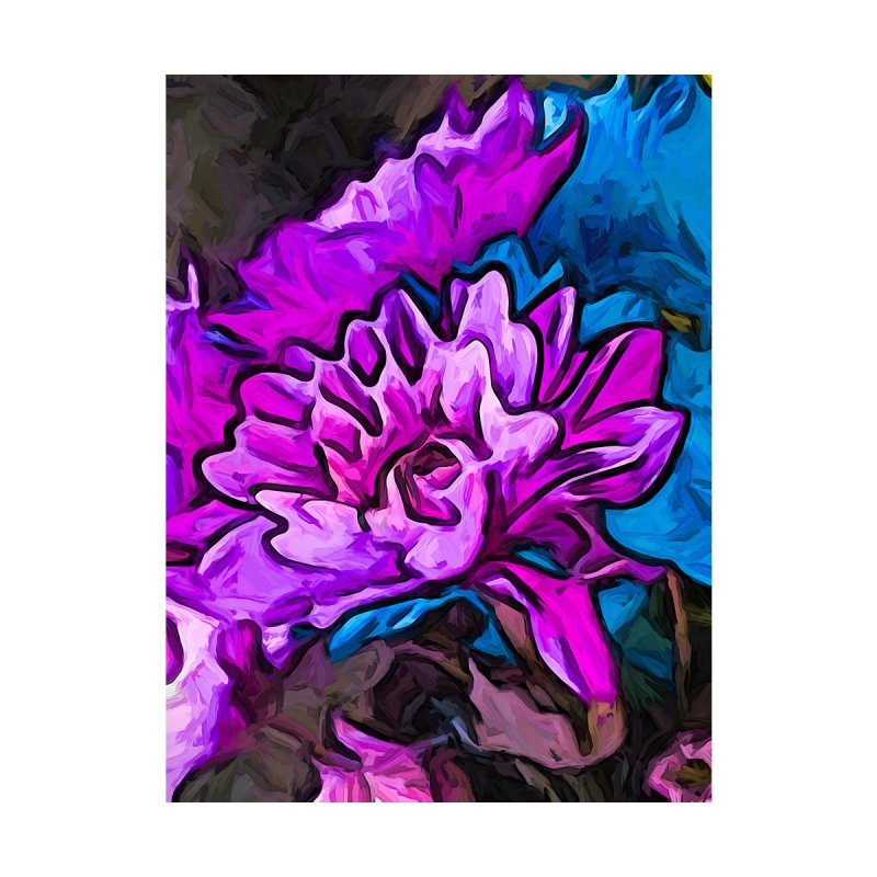 The Embrace of the Lavender and Blue Flowers by jackievano's Artist Shop