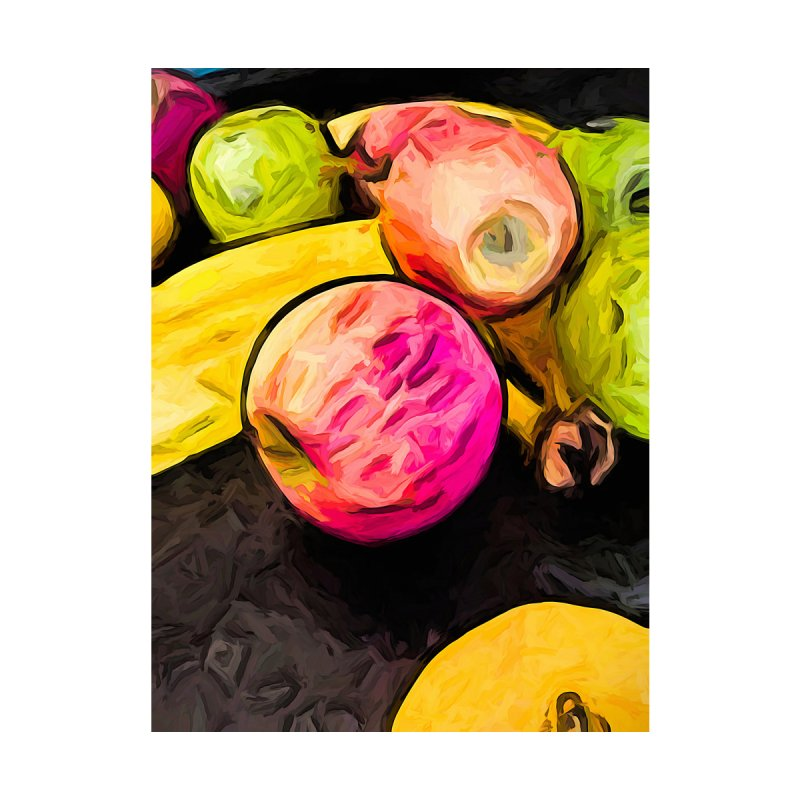 The Pink Apple with the Banana and the Green Apples by jackievano's Artist Shop