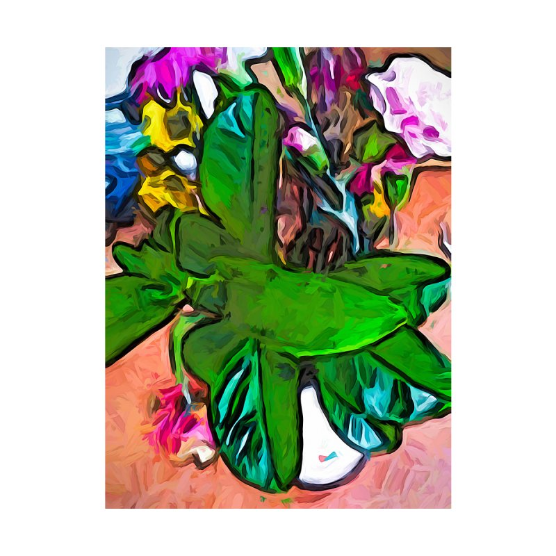 The Vase with the Green and Turquoise Leaves by jackievano's Artist Shop