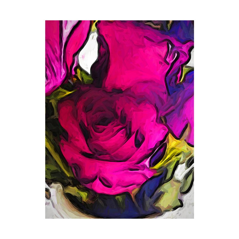 The Glowing Love of the Pink Roses by jackievano's Artist Shop