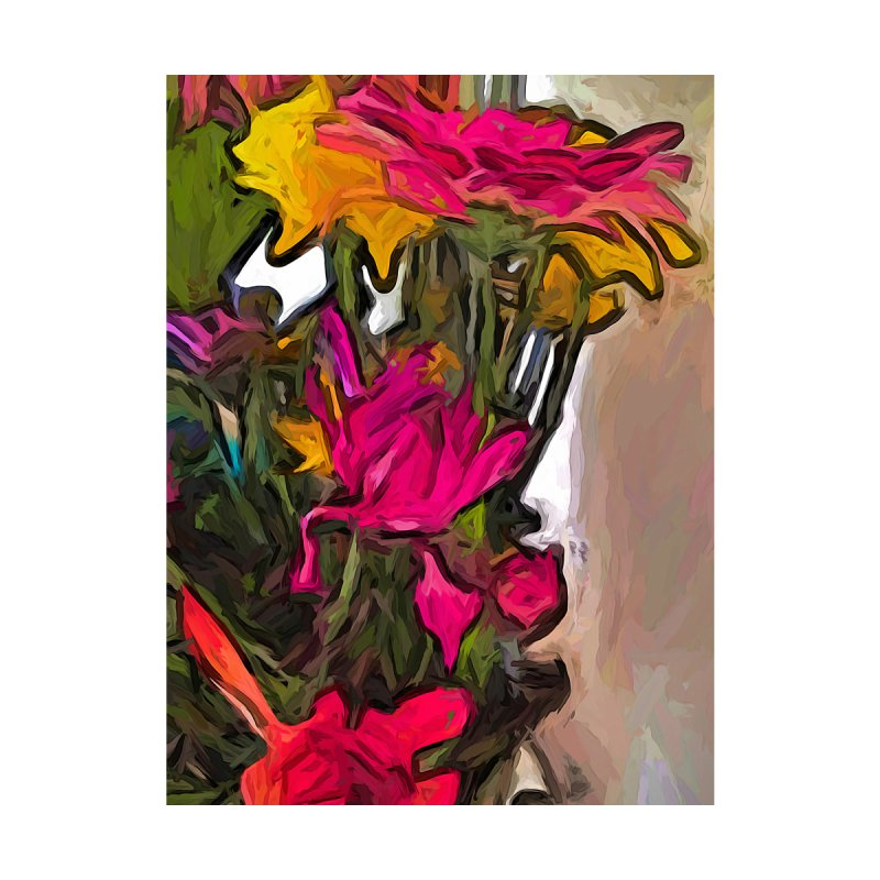 The Pink Flower with the Falling Petals by jackievano's Artist Shop