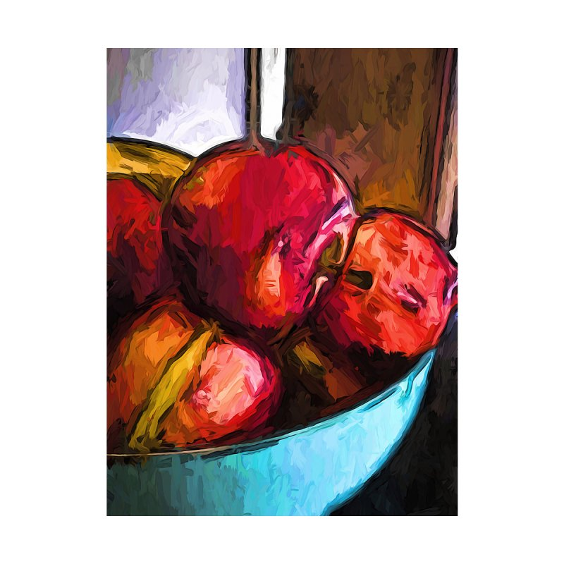 The Red Apples in the Bowl by jackievano's Artist Shop