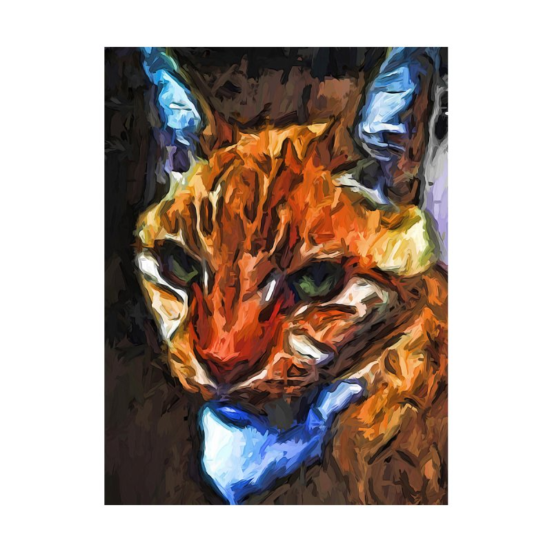 The Direct Gaze of the Gold Cat by jackievano's Artist Shop