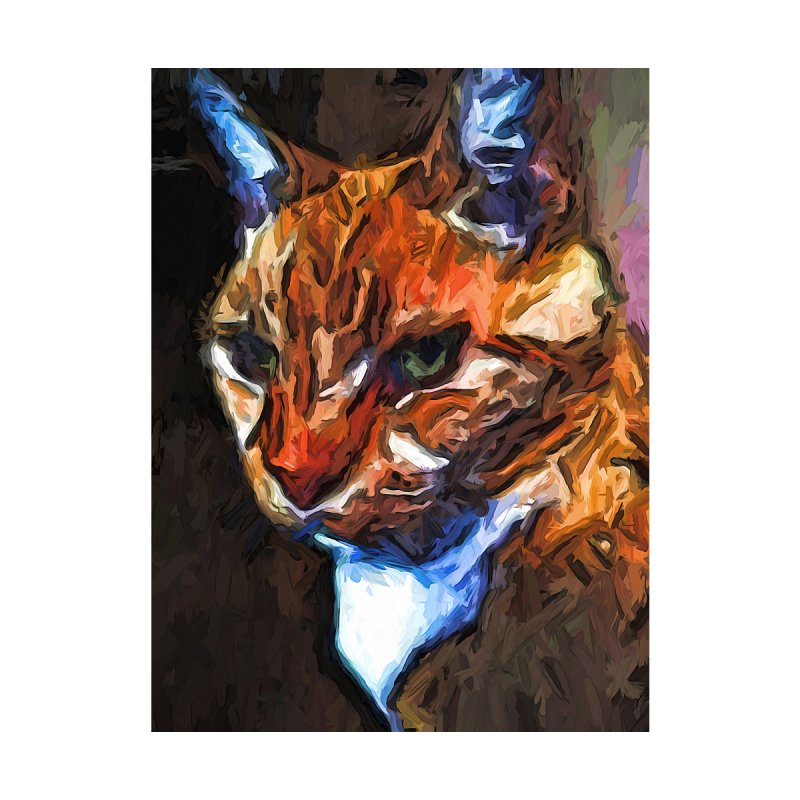 The Intense Stare of the Gold Cat by jackievano's Artist Shop