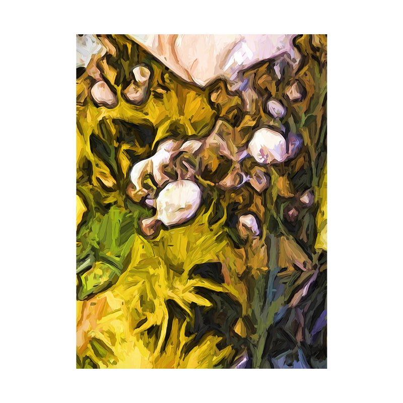 The White Buds in the Sea of Yellow Petals by jackievano's Artist Shop