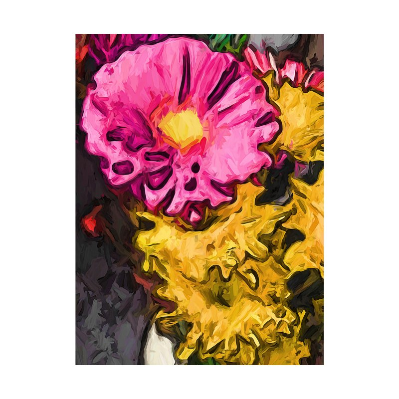 The Leaning Flowers of Pink and Yellow by jackievano's Artist Shop