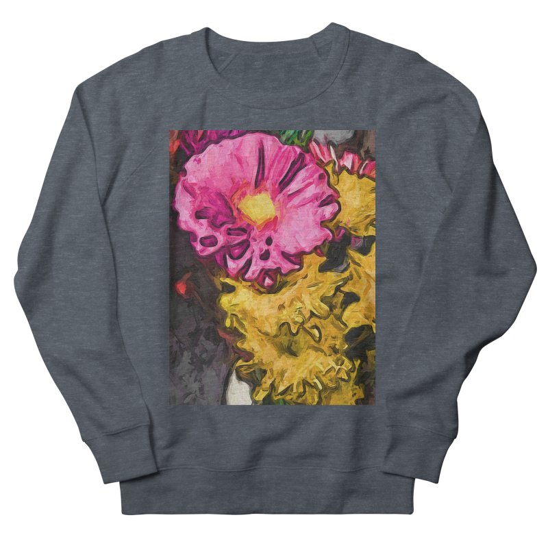 The Leaning Flowers of Pink and Yellow Women's Sweatshirt by jackievano's Artist Shop