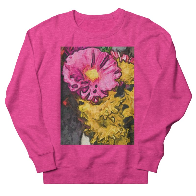 The Leaning Flowers of Pink and Yellow Men's Sweatshirt by jackievano's Artist Shop