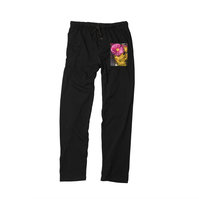 The Leaning Flowers of Pink and Yellow Men's Lounge Pants by jackievano's Artist Shop