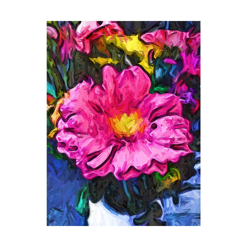 The Pink and Yellow Flower in the Vase by jackievano's Artist Shop