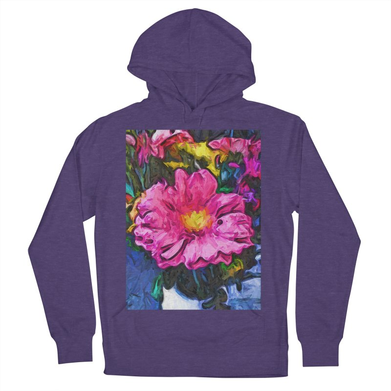 The Pink and Yellow Flower in the Vase Women's Pullover Hoody by jackievano's Artist Shop
