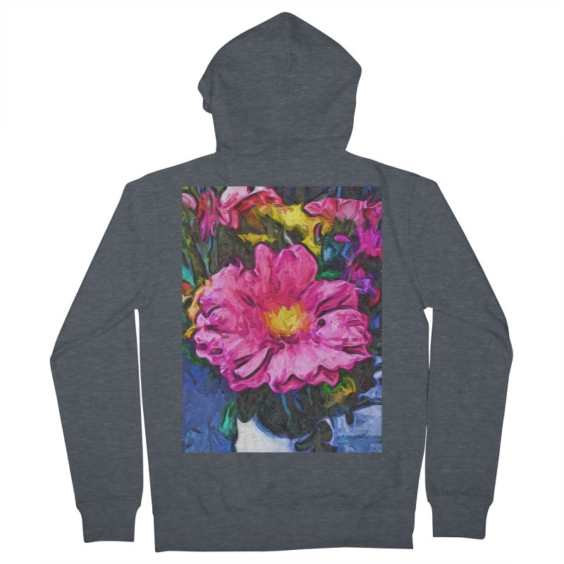 The Pink and Yellow Flower in the Vase Men's Zip-Up Hoody by jackievano's Artist Shop