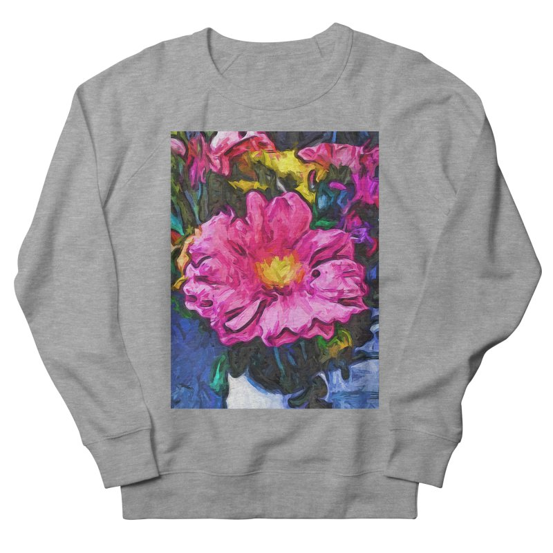 The Pink and Yellow Flower in the Vase Women's Sweatshirt by jackievano's Artist Shop