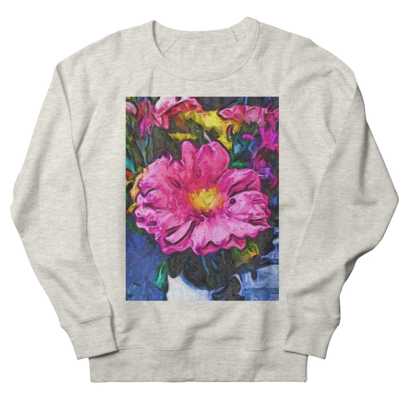The Pink and Yellow Flower in the Vase Men's Sweatshirt by jackievano's Artist Shop