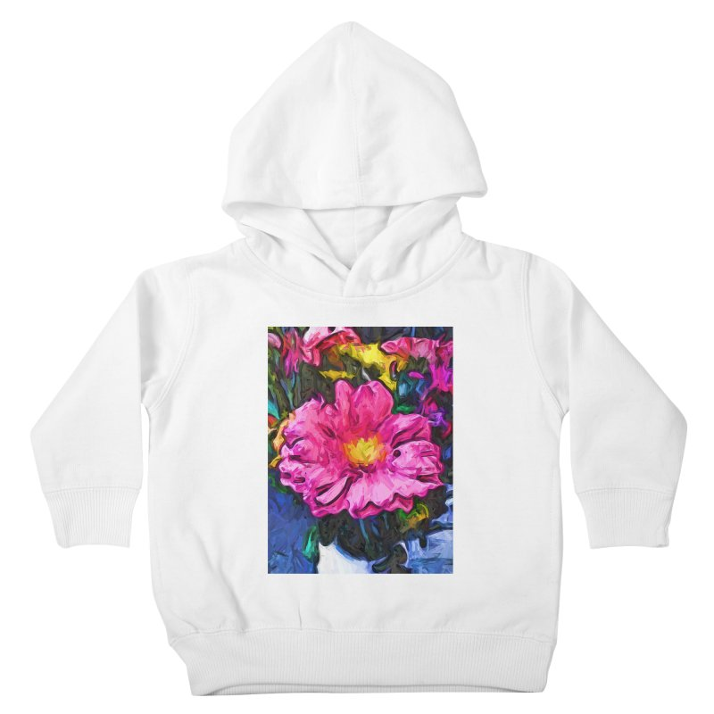 The Pink and Yellow Flower in the Vase Kids Toddler Pullover Hoody by jackievano's Artist Shop