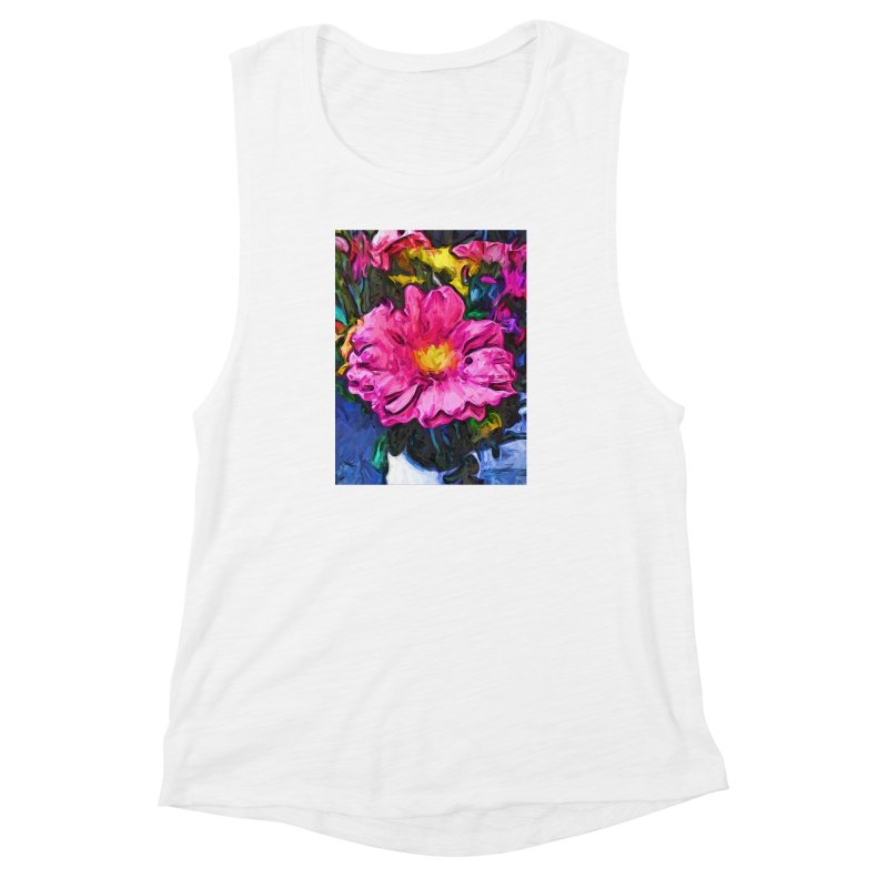 The Pink and Yellow Flower in the Vase Women's Muscle Tank by jackievano's Artist Shop
