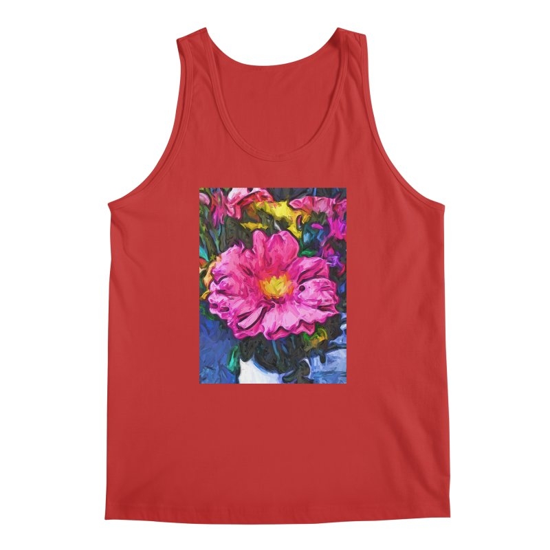 The Pink and Yellow Flower in the Vase Men's Tank by jackievano's Artist Shop
