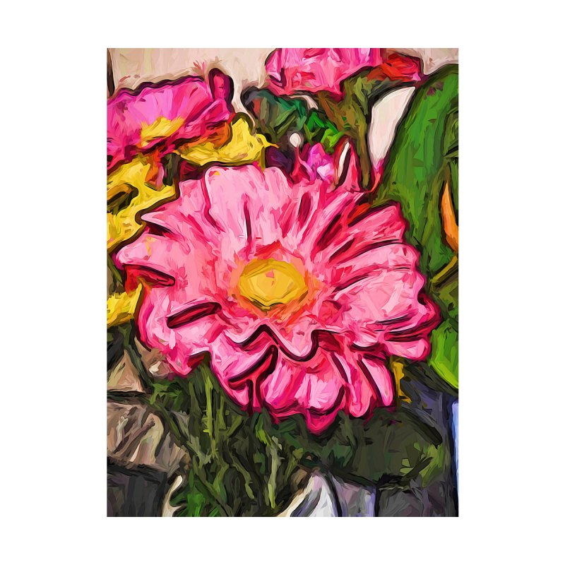 The Radiant Love of the Pink and Yellow Flower by jackievano's Artist Shop