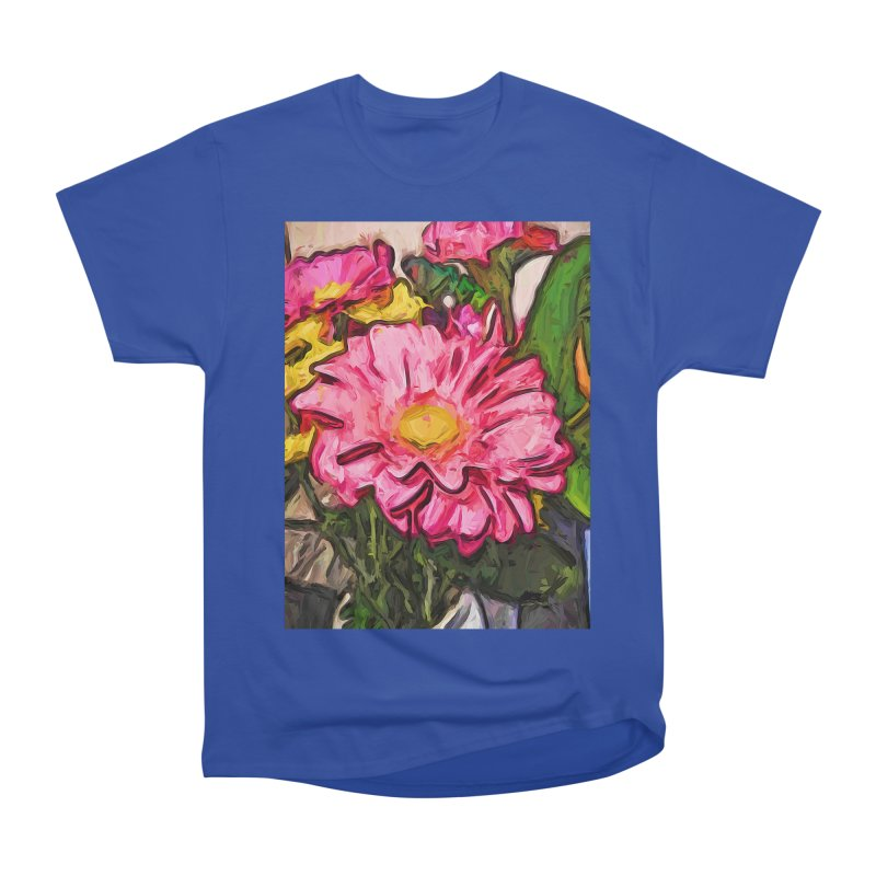 The Radiant Love of the Pink and Yellow Flower Men's Heavyweight T-Shirt by jackievano's Artist Shop
