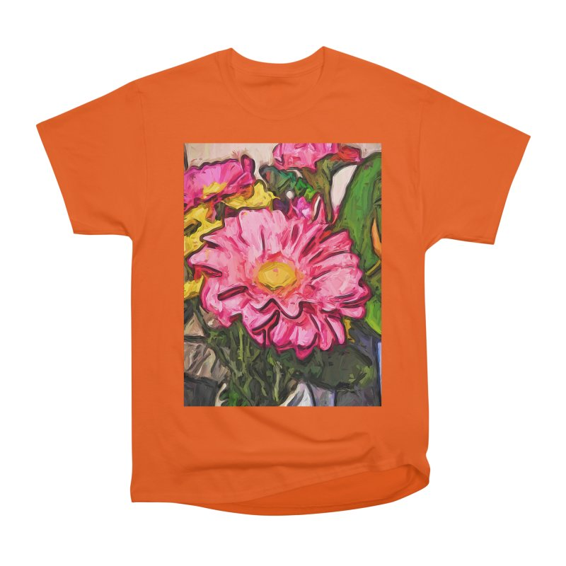 The Radiant Love of the Pink and Yellow Flower Women's Heavyweight Unisex T-Shirt by jackievano's Artist Shop