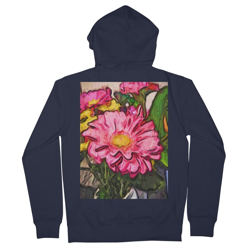 The Radiant Love of the Pink and Yellow Flower Men's Zip-Up Hoody by jackievano's Artist Shop