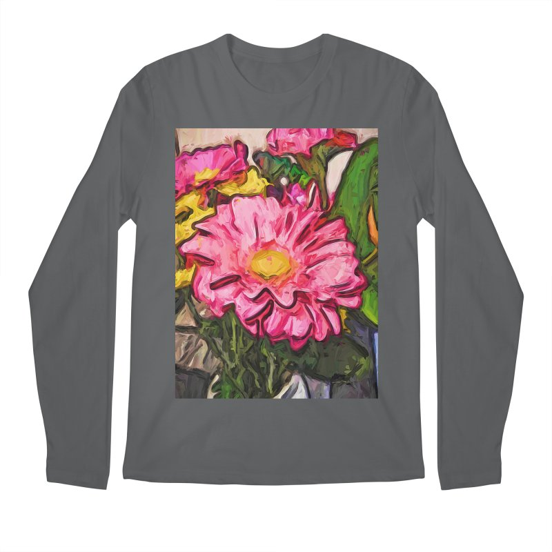 The Radiant Love of the Pink and Yellow Flower Men's Longsleeve T-Shirt by jackievano's Artist Shop