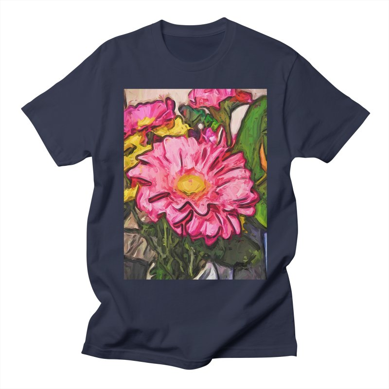 The Radiant Love of the Pink and Yellow Flower Men's T-Shirt by jackievano's Artist Shop