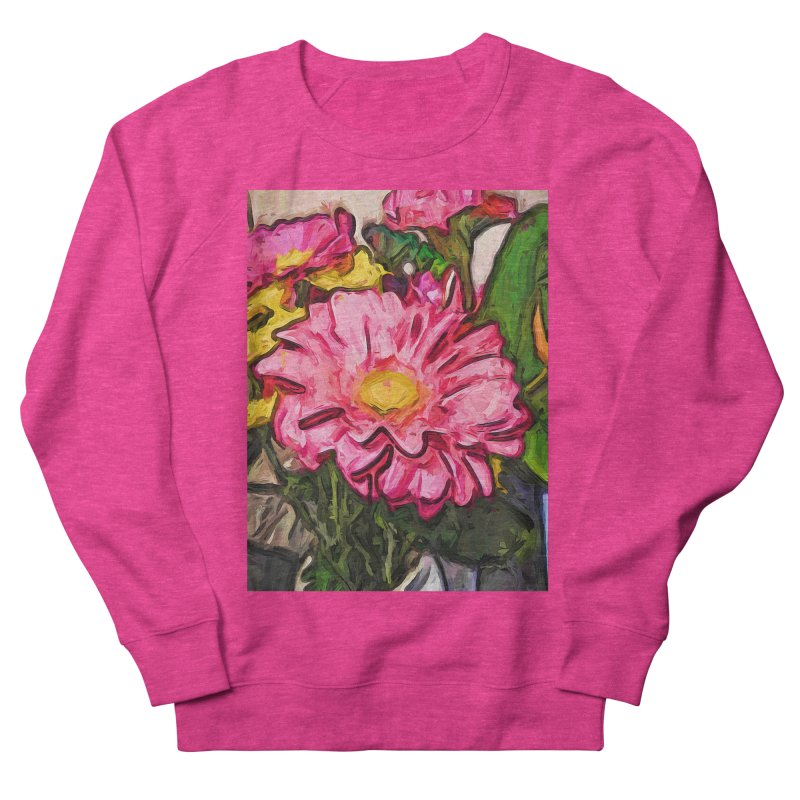 The Radiant Love of the Pink and Yellow Flower Women's Sweatshirt by jackievano's Artist Shop