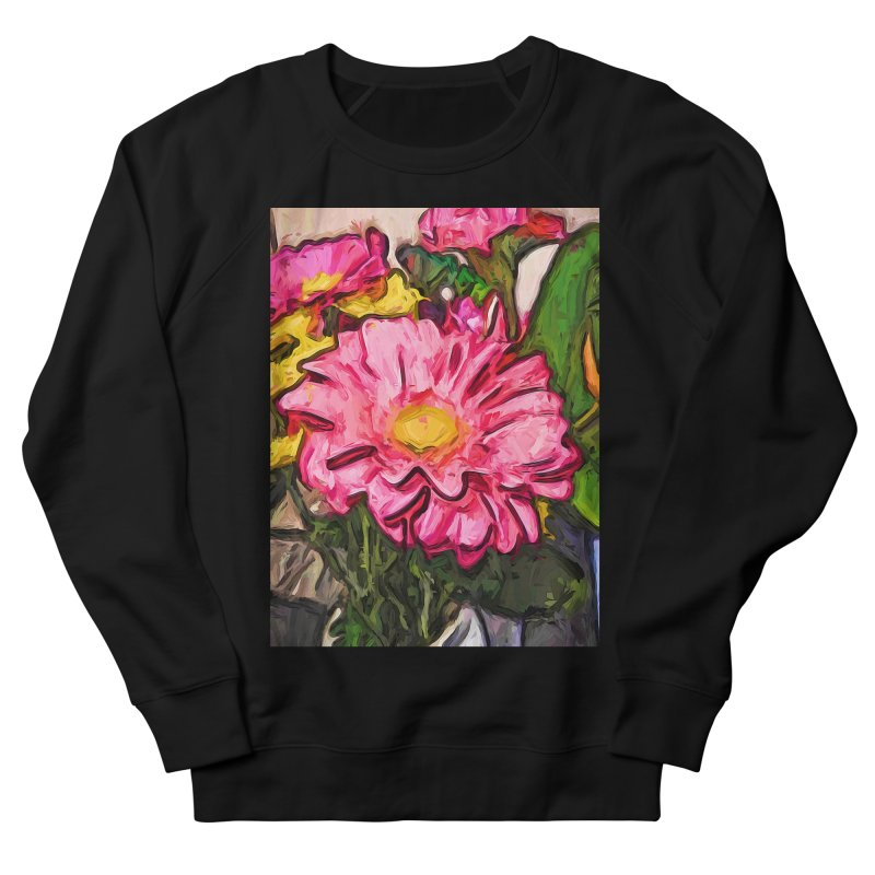 The Radiant Love of the Pink and Yellow Flower Men's Sweatshirt by jackievano's Artist Shop
