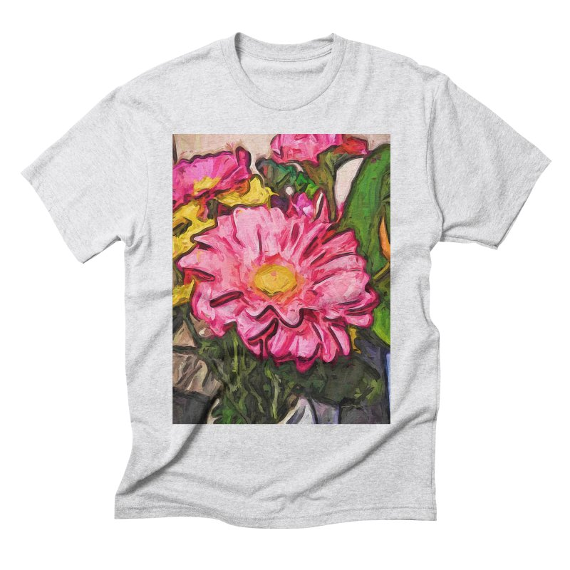 The Radiant Love of the Pink and Yellow Flower Men's Triblend T-Shirt by jackievano's Artist Shop