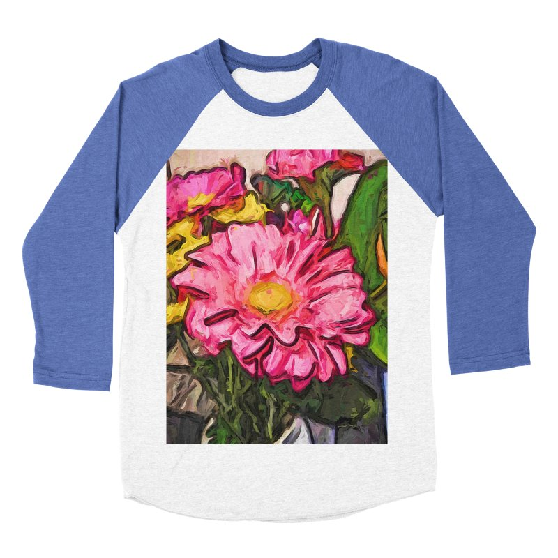 The Radiant Love of the Pink and Yellow Flower Men's Baseball Triblend T-Shirt by jackievano's Artist Shop
