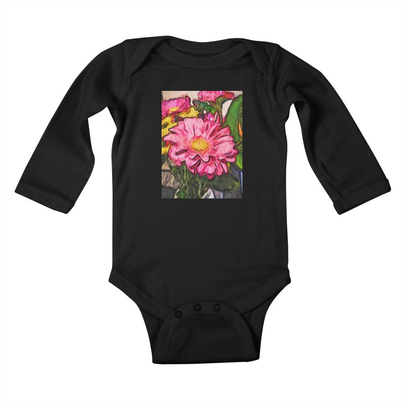 The Radiant Love of the Pink and Yellow Flower Kids Baby Longsleeve Bodysuit by jackievano's Artist Shop