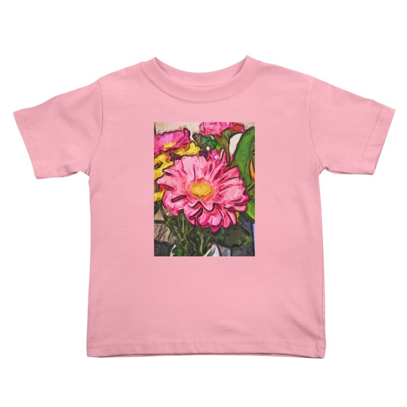 The Radiant Love of the Pink and Yellow Flower Kids Toddler T-Shirt by jackievano's Artist Shop