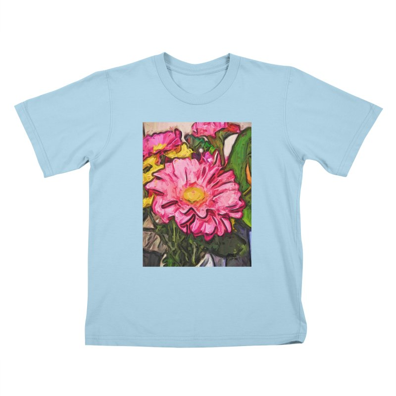 The Radiant Love of the Pink and Yellow Flower Kids T-Shirt by jackievano's Artist Shop