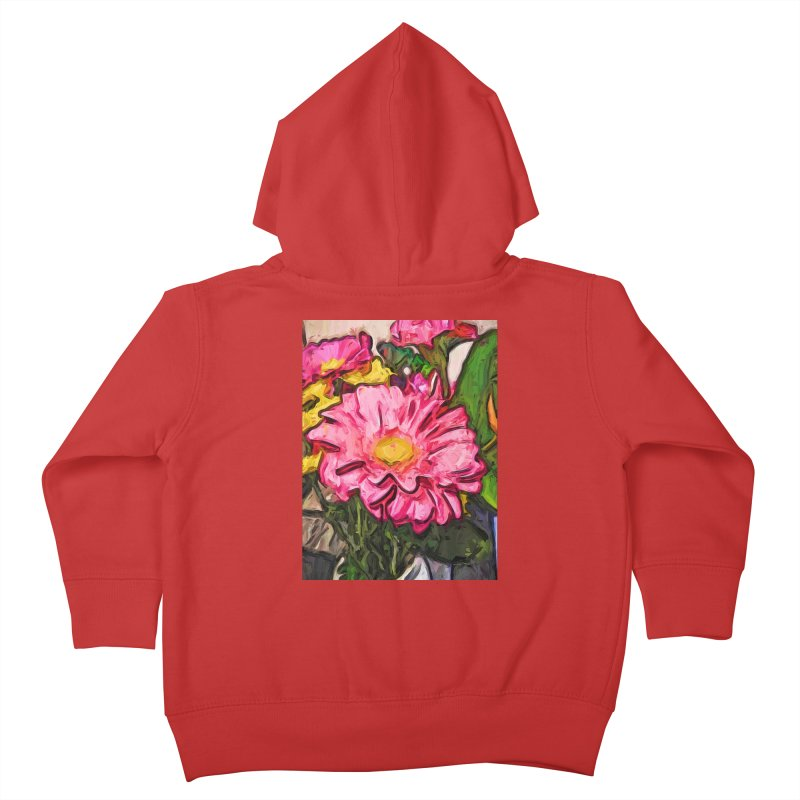The Radiant Love of the Pink and Yellow Flower Kids Toddler Zip-Up Hoody by jackievano's Artist Shop