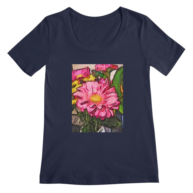 The Radiant Love of the Pink and Yellow Flower Women's Scoopneck by jackievano's Artist Shop