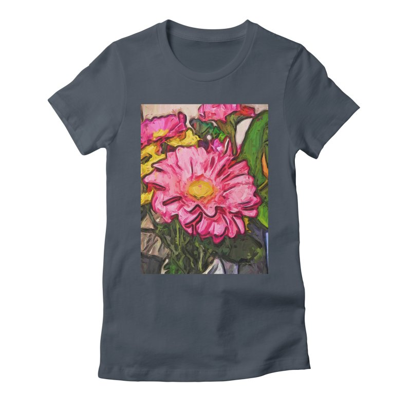 The Radiant Love of the Pink and Yellow Flower Women's Fitted T-Shirt by jackievano's Artist Shop