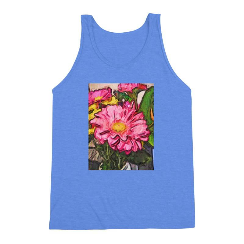 The Radiant Love of the Pink and Yellow Flower Men's Triblend Tank by jackievano's Artist Shop