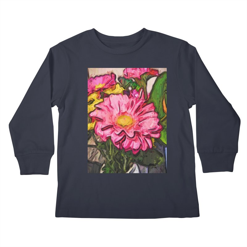 The Radiant Love of the Pink and Yellow Flower Kids Longsleeve T-Shirt by jackievano's Artist Shop