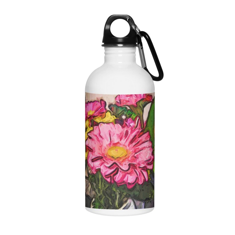 The Radiant Love of the Pink and Yellow Flower Accessories Water Bottle by jackievano's Artist Shop