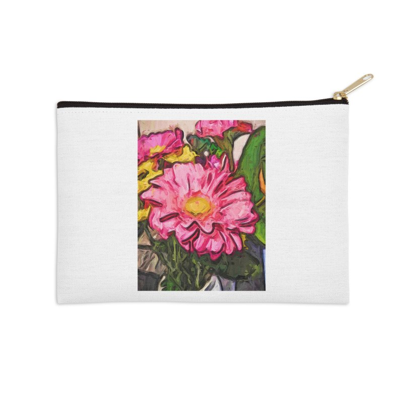 The Radiant Love of the Pink and Yellow Flower Accessories Zip Pouch by jackievano's Artist Shop