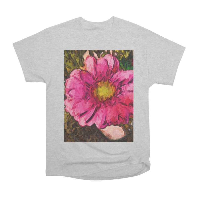 The Euphoria of the Pink and Yellow Flower Women's Heavyweight Unisex T-Shirt by jackievano's Artist Shop