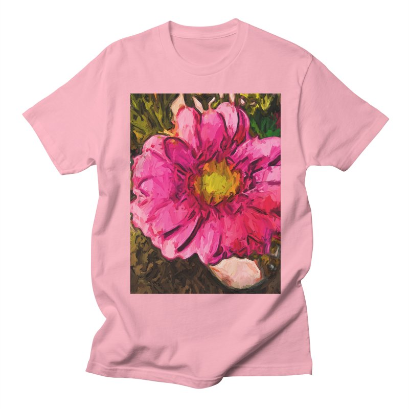 The Euphoria of the Pink and Yellow Flower Men's T-Shirt by jackievano's Artist Shop