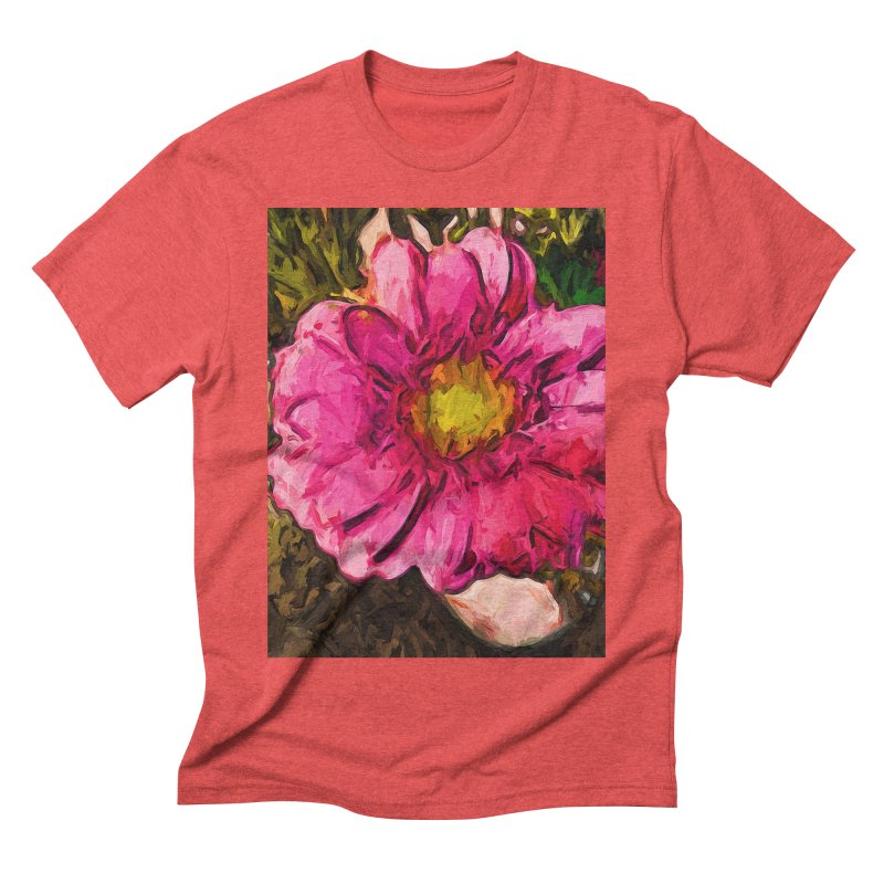 The Euphoria of the Pink and Yellow Flower Men's Triblend T-Shirt by jackievano's Artist Shop