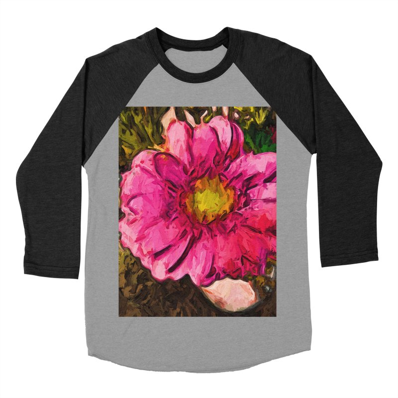 The Euphoria of the Pink and Yellow Flower Women's Baseball Triblend T-Shirt by jackievano's Artist Shop