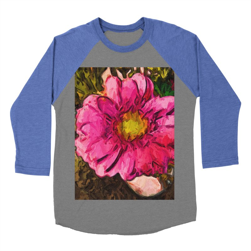 The Euphoria of the Pink and Yellow Flower Men's Baseball Triblend T-Shirt by jackievano's Artist Shop